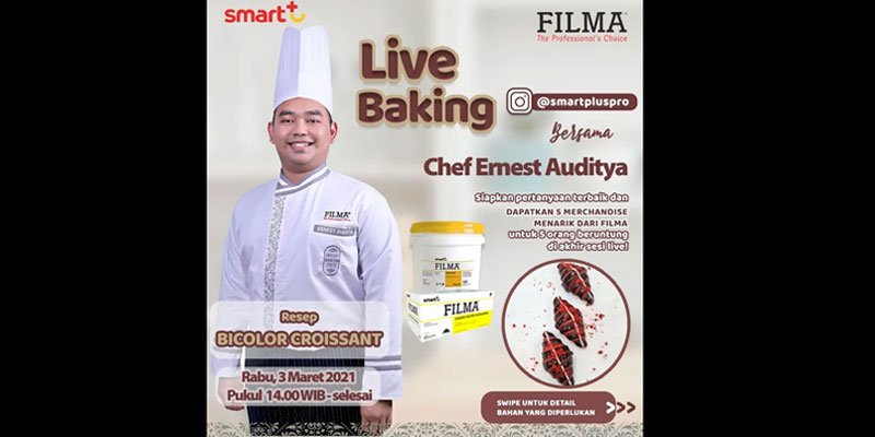 Live Baking Chef Ernest Auditya - Resep Bicolor Croissant