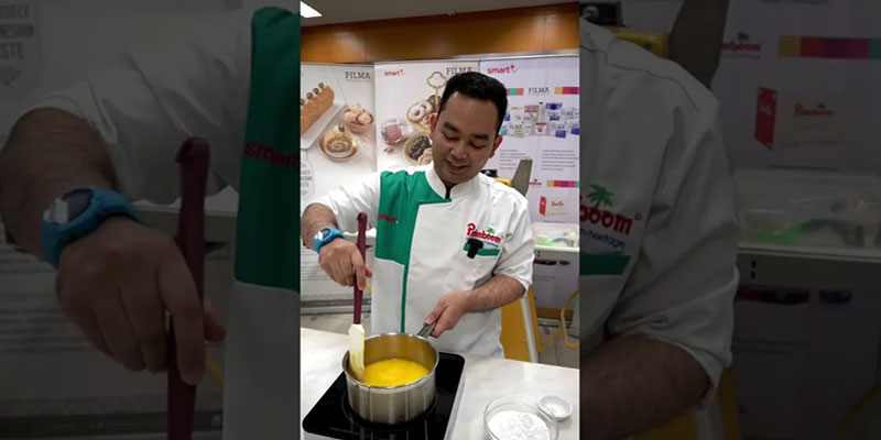 Strawberry Mint Eclair by Chef Ernest Auditya