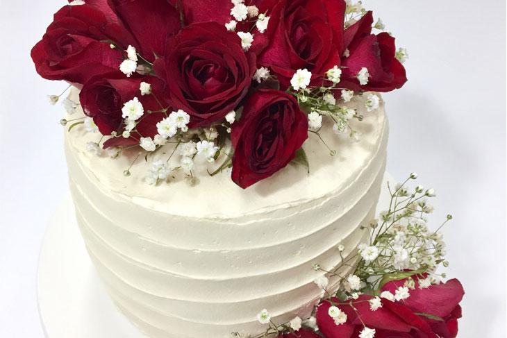 RESEP VANILA ROSE CAKE